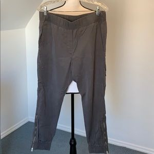 Gap gray light weight joggers with side zippers